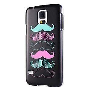 Seis cubierta del caso plástico del bigote lindo duro para Samsung Galaxy i9600 S5