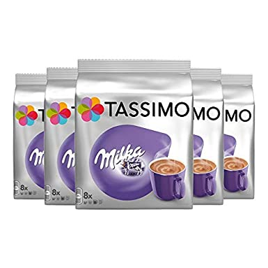 Tassimo Milka Hot Chocolate Pack Of 5 5 X 8 T Discs 40