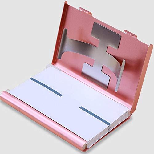 Scatola in alluminio-Organizzatore pratico e protegge le schede e carta Grigio argento