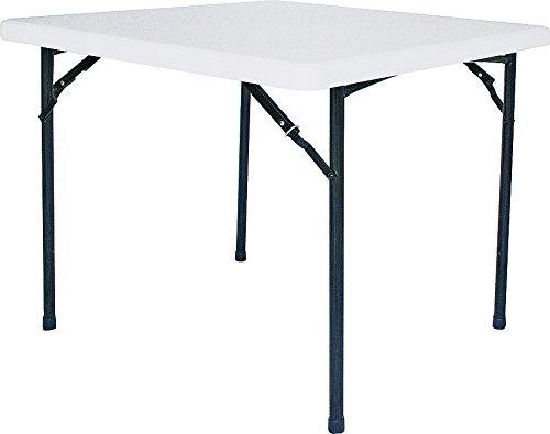 HOMEBASIX BT036X001A Square Folding Table, 36-Inch