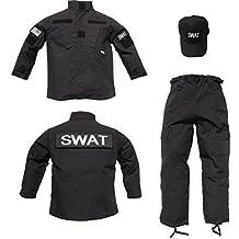 Kids 3 pc Trooper Black Tactical SWAT Ripstop Uniform