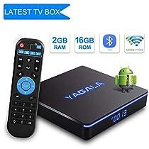 YA-II Android 7.1 TV Box 2GB RAM 16GB ROM amlogic S905W Bluetooth 4.2 Quad-core Cortex-A53 Support Dual Band WiFi 2.4GHz/5GHz 4K 3D Ultra HD HDMI H.265 64 Bits
