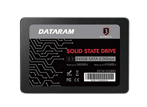 "DATARAM 2.5"" SSD Solid State Drive 240GB 6.0 Gbps SATAIII High Speed Read & Write"