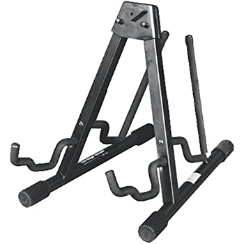 onstage gs7252b heavy duty double guitar stand black musical instruments. Black Bedroom Furniture Sets. Home Design Ideas