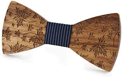 5b26c8193d089 Wedding Bow Ties For Men Classic Handmade Design Fashion Men's Women's Wooden  Bow Tie Surface Embossed