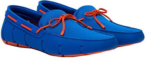 Zwemt Mens Gevlochten Kant Loafer Blitz Blauw / Oranje Maat 11.5