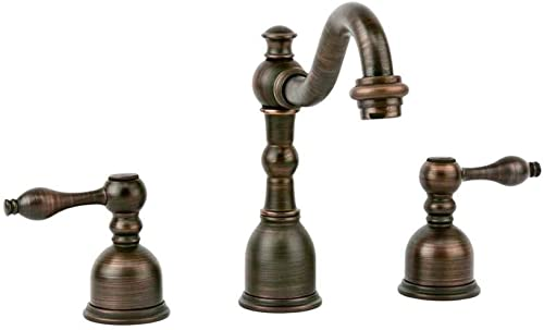 Premier Copper Products B-WS01ORB Tru Faucets Widespread Bathroom Faucet, Oil Rubbed Bronze