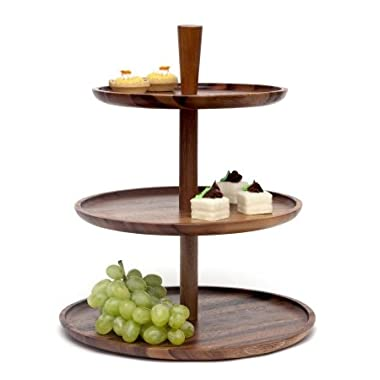Lipper International 1115 Three Tier Server, Brown