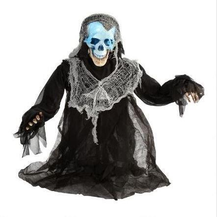 Rotating Head, Groaning, Light-up Skeleton Groundbreaker by Nantucket Home (Image #1)