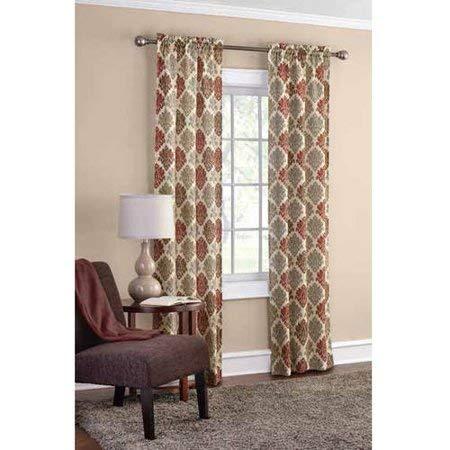 Mainstay 2-Pack Sailcloth Rod Pocket Curtain Panel Pair, 56