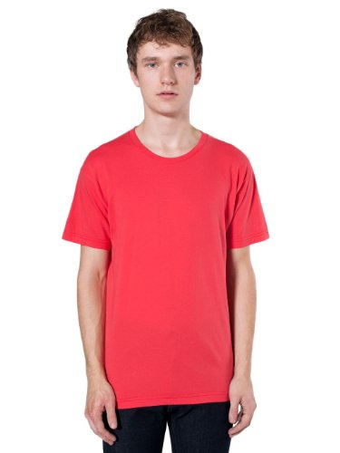 American Apparel Unisex Power Washed Tee - Red Punch / XS