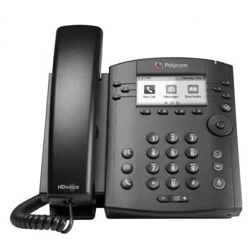 Polycom VVX 300 IP Business PoE Telephone (Power Supply Included) (Renewed) by Polycom