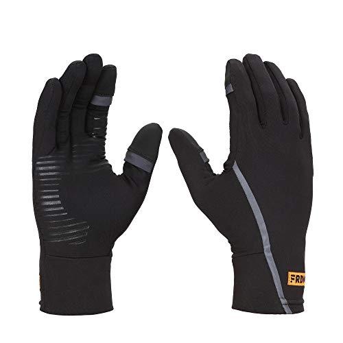 FRDM Convertible Liner Gloves - Thumb & Index Access, Touchscreen Compatible, Snow, Ski, Biking, Fishing, Running, Hiking,for Men & Women (Large)