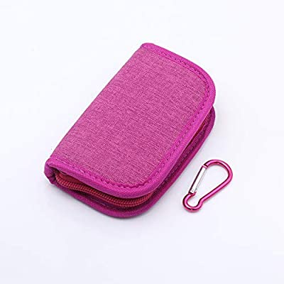 Carrying Case Wallet Holder for JUUL and Other Popular Vapes   Holds Vape, Pods and Charger   Fits in Pockets or Bags(Rose red): Home Audio & Theater