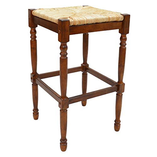 Carolina Chair and Table 30-Inch Chestnut Hawthorne Bar Stool