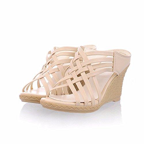 Sandalias, sandalias, señoras, talones y tacones Beige