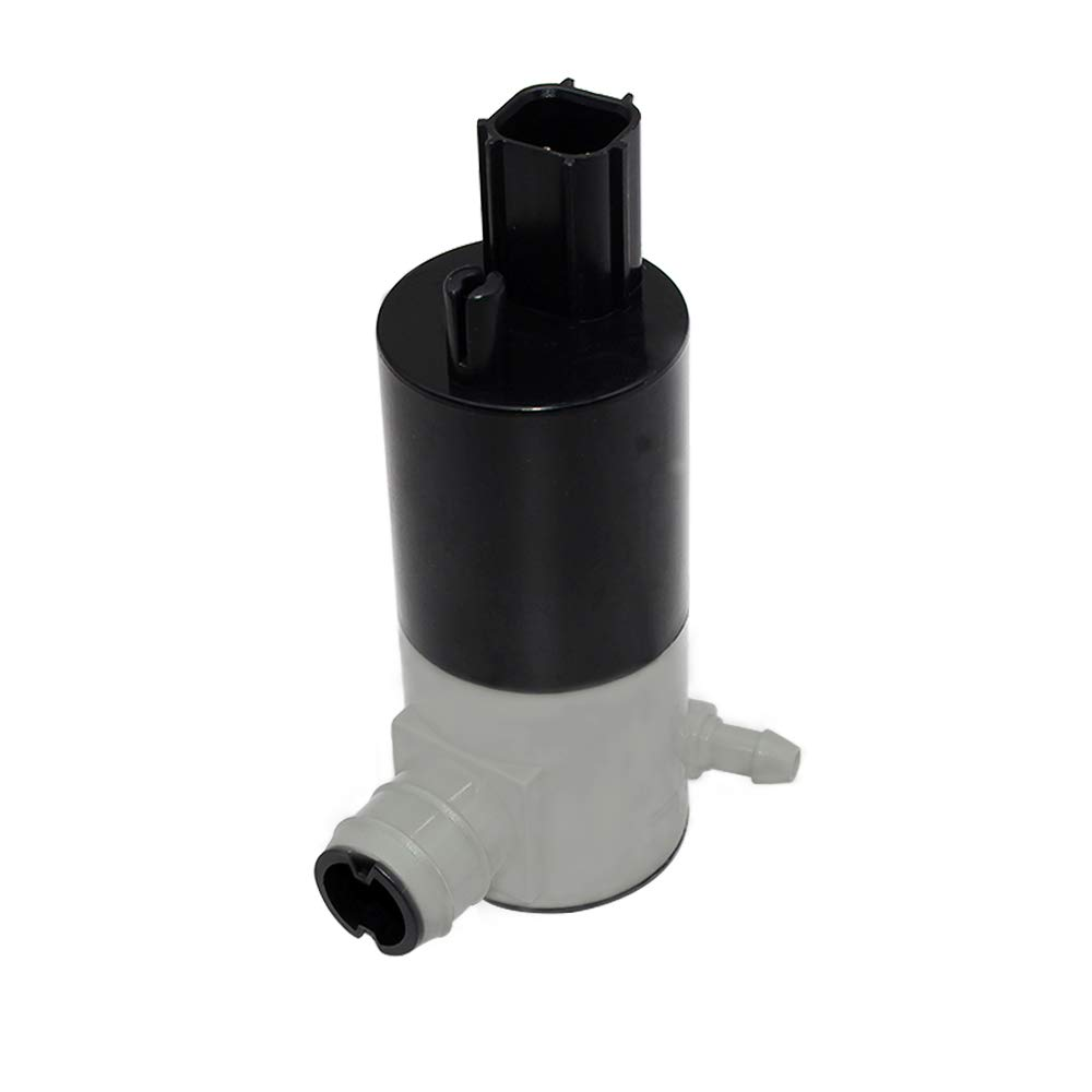 Windshield Washer Pump with Grommet Front Rear for Chrysler Dodge Ford Jeep Lincoln Mercury SRT Replaces 55077241AA 05103452AA 05011807AB 05013160AA