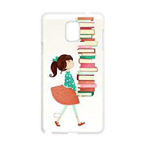 Library Girl Samsung Galaxy Note 4 Cell Phone Case White JN006486