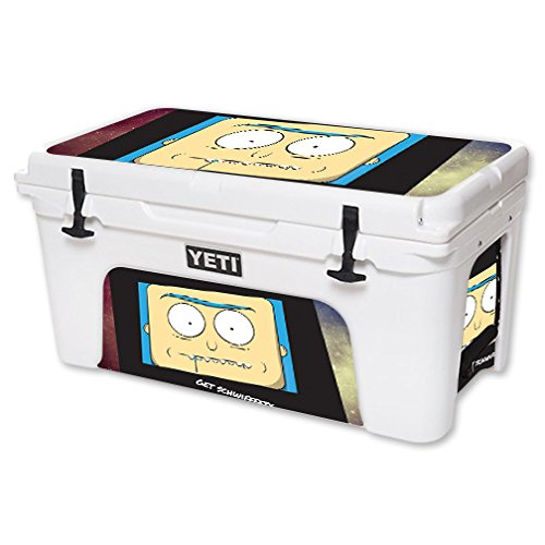 MightySkins Skin For YETI 65 qt Cooler - Get Schwifty | Protective, Durable, and Unique Vinyl Decal wrap cover | Easy To Apply, Remove, and Change Styles | Made in the USA by MightySkins