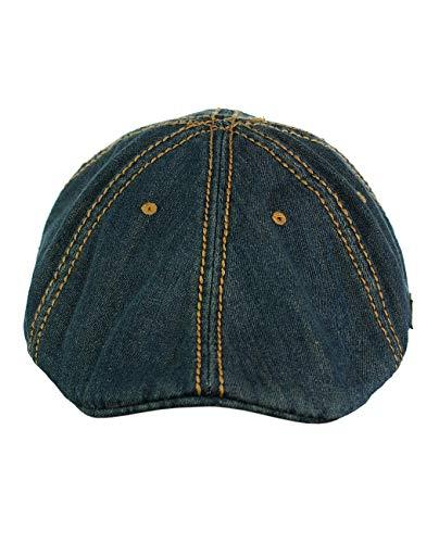 Denim newsboy caps