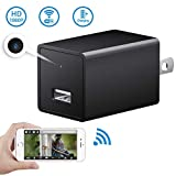 1080P WiFi Mini Camera-SOOSPY Indoor USB Wall Charger Camera/Pet Camera/Nanny Cam with Motion Detection,USB Port