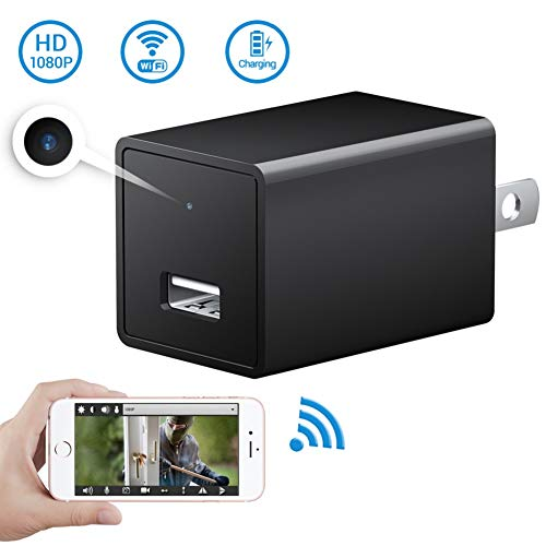 WiFi Hidden Spy Camera-USB Charger Camera-SOOSPY Wireless WiFi 1080P Indoor Wall Charger Camera/Nanny Cam with Motion Detection