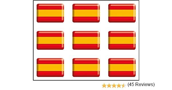 Resina 30x18 mm//ud. Artimagen Pegatina Bandera rect/ángulo Italia 4 uds