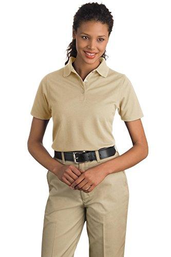 Cornerstone CS403 Ladies Industrial Pocketless Pique Polo - Stone - 3XL