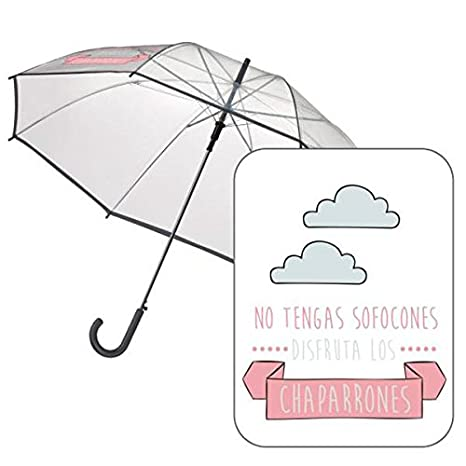 "Paraguas automatico transparente ""Chaparrones"" ..."