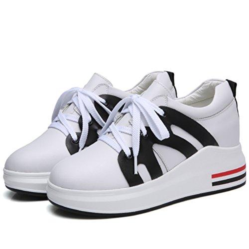 De Sneakers Marche Athlétique 7 Respirant Baskets Blanc Compensé Femme Noir Antidérapantes Chaussures Cm Haute Jrenok À Mocassins Running 5SpqHY6