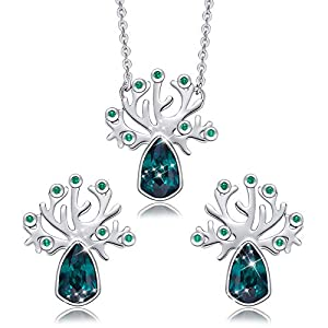 """CDE """"Tree of Life Jewelry Set Embellished with Crystals from Swarovski Pendant Necklaces and Earrings Gifts for Women"""