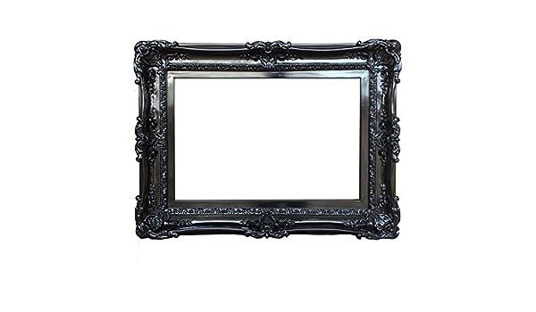 Amazon.com: 20x24 Baroque Black Frame - Ornate Wall Mirror - Shabby ...