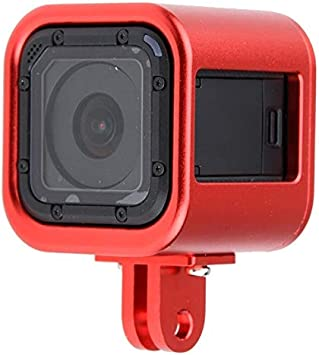 Black Ychaoya Housing Shell CNC Aluminum Alloy Protective Cage with Insurance Punt Cover for GoPro HERO5 Session //HERO4 Session//Hero Session Color : Black