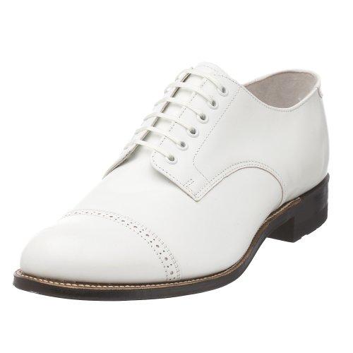 Stacy Adams Men's Madison Cap Toe Oxford,White,7 D