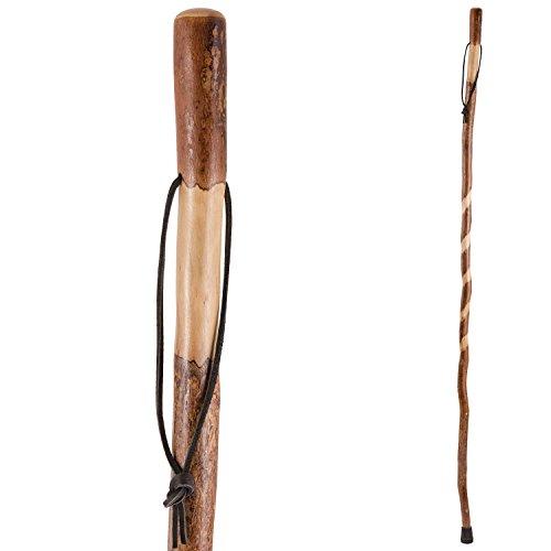 Brazos Twisted Sweet Gum Wood Walking Stick Hiking Trekki...