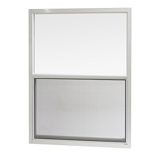 (Park Ridge Products AMHW3040PR Park Ridge 30 in. x 40 in. Aluminum Mobile Home Single Hung Window - White,)
