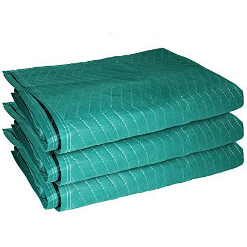 """EasyGoProducts EGP-MOVE-005 3 Heavy Duty 72"""" x 45 Furniture Moving Packing Blankets-Cheapest on Amazon, Green"""