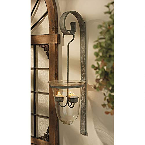 Design Toscano Tuscan Hanging Candeliere Glass Pendant Sconce
