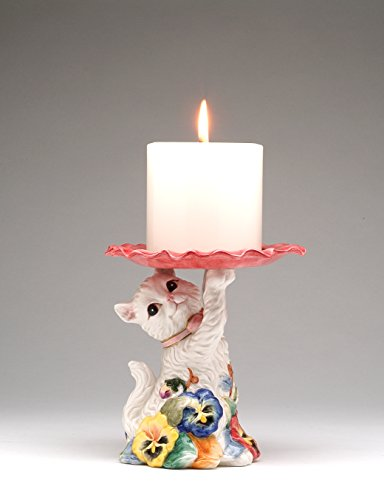 Cosmos Gifts 406-06 Pansy Cat Candle Holder 5