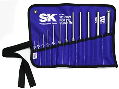 SK Hand Tools 6072 12 Piece Roll Pin Punch Set