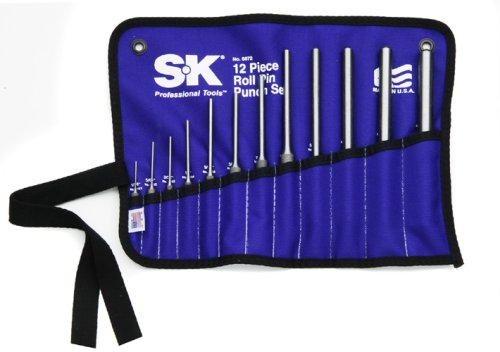 SK 6072 Roll Pin Punch Set 12 Piece by SK Hand Tool