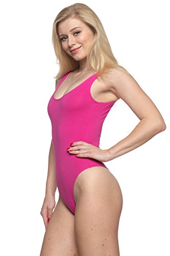 (Women's J2 Love Cotton Tank Thong Bodysuit, Large,)