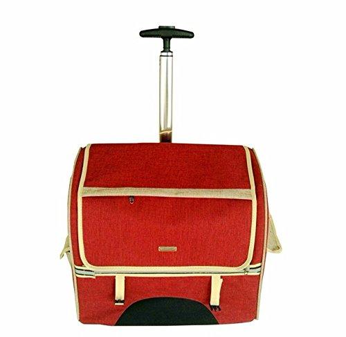 Pet Carrier Pet-Double Trolley Trolley Tasche Pet aus dem Rucksack Portable Hund Teddy, Braun Groß, weniger als 11 Kg