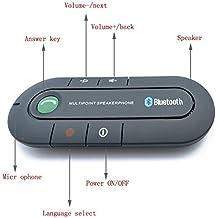 Bluetooth Speakerphone, Wireless Audio Music Receiver Hands Free Bluetooth Car Kit Sun Visor Portable Bluetooth