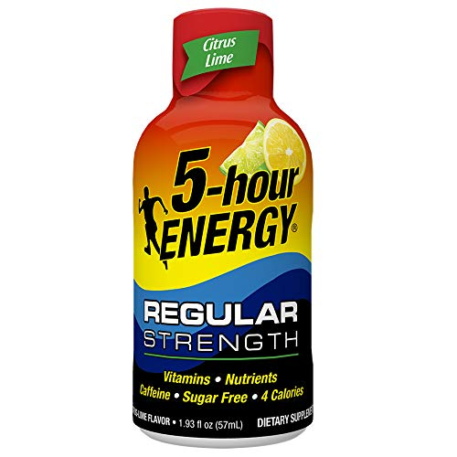 Regular Strength 5-hour ENERGY Shots - Citrus Lime - 24 Count ()
