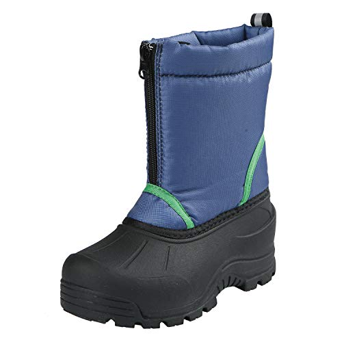 Northside Boys' Icicle Snow Boot, Navy/Green, 11 Medium