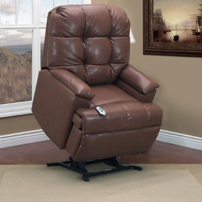 5600 Series Wall-a-Way Reclining Lift Chair Upholstery: Bonded Leather II - Saddle, Moveable Infrared Heat: Yes, Vibration and Heat: 4 Vib/Heat (Series Wall 5600)