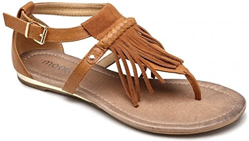 Moow - Sandalias de vestir para mujer marrón claro