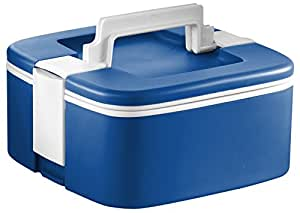 Ozeri FS3-BL Thermomax Stackable Lunch Box and Double-wall Insulated Food Storage Container, Blue