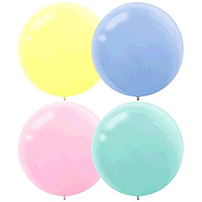 Round Pearlized Latex Balloons | Assorted Pastel | Pack of 4 | Party Decor: Toys & Games
